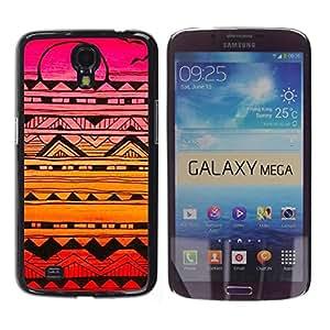 Be Good Phone Accessory // Dura Cáscara cubierta Protectora Caso Carcasa Funda de Protección para Samsung Galaxy Mega 6.3 I9200 SGH-i527 // Handmade Sunset Drawing Ink Pink