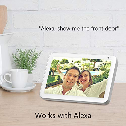 Security Camera Outdoor, 1080P Wireless WiFi Camera with Night Vision, Home Surveillance Camera, Instant Alert, 2-Way Audio IP Camera, Cloud Storage, IP66 Waterproof, Compatible with Alexa, White