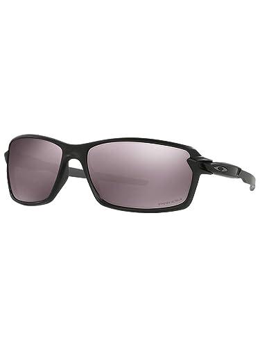 ff2e79ba45d Amazon.com  Oakley Men s Carbon Shift Iridium Rectangular Sunglasses Matte  Black w Prizm Daily Polarized 62 mm  Clothing