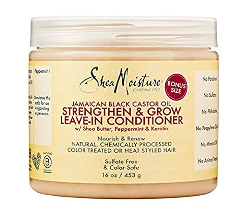 SheaMoisture Jamaican Black Castor Oil Strengthen & Grow Leave-In Conditioner | 16 oz.