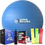 Active Balance Exercise Ball with Resistance Bands