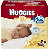 Huggies Little Snugglers Plus Diapers Size 1, 192ct