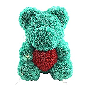 SuBoZhuLiuJ Love Heart Foam Rose Flower Lovely Bear Artificial Rose Anniversary Valentines Gift Birthday Romantic Gift 110