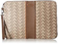 Last men's jacquard pouch with stripe detail.