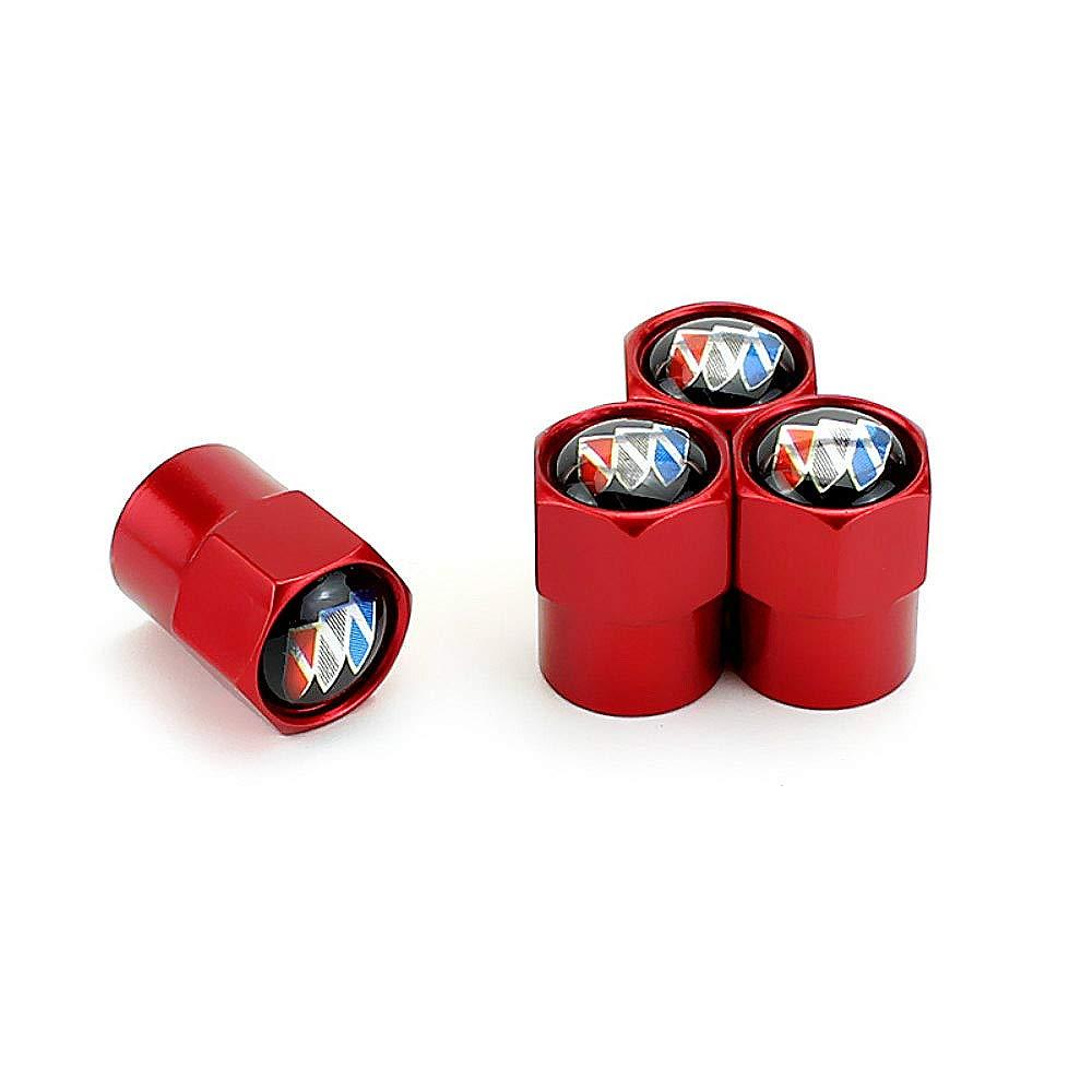 EVPRO Valve Stem Caps for Car Tire Decorative 4 Pack Red Fit Subaru Accessories