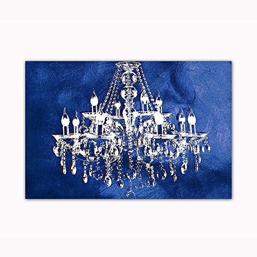 Navy blue art amazon navy blue chandelier wall decoration art decor print on 24x36 can aloadofball Gallery