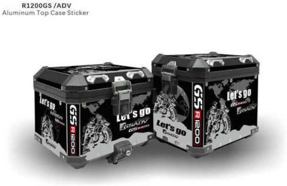 R1250GS Adv R1200GS Adv R1200GS Red White /& Yellow REFLECTIVE  TOP BOX CHEVRONS