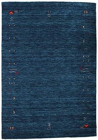 Gabbeh Loom - Dark Blue rug 4'7