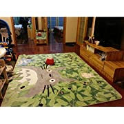 Uniquely Cartoon TOTORO Skid-proof Washable Big Carpet Kids Nursery Entertainment Floor Area Rugs Mat For Living Room/Bed Room 130cm x 180cm,70.9   x 51.2