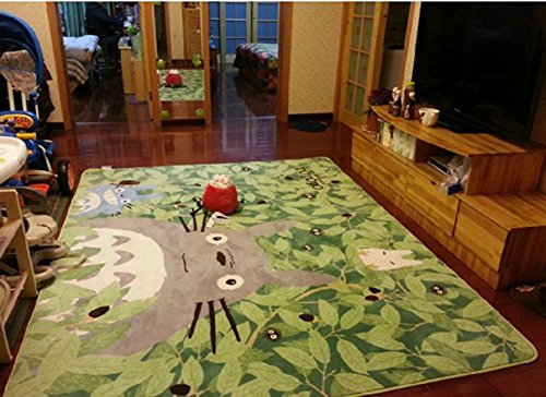 Uniquely Cartoon TOTORO Skid-proof Washable Big Carpet Kids Nursery Entertainment Floor Area Rugs Mat For Living Room/Bed Room 130cm x 180cm,70.9