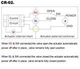 "HSH-Flo Motorized Ball Valve 2 Way 1"" CR-02 NPT"
