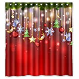 "Good Bathroom Choice - Merry Christmas Time Fantastic Christmas Decoration Design Shower Curtain 66""x72"" Inches 100% Waterproof Polyester Fabric Bathroom Curtain,Shower Rings Included"