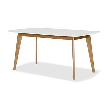 Esstisch Weiß-Eiche Tisch Esszimmertisch Designer: Amazon.de ...