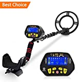 """RM RICOMAX Metal Detector - High-Accuracy Metal Finder with LCD Display, Discrimination Mode, Distinctive Audio Prompt, 10"""" Waterproof Search Coil for Underwater Metal Detecting"""
