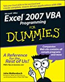 Excel 2007 VBA Programming For Dummies, John Walkenbach, 0470046740
