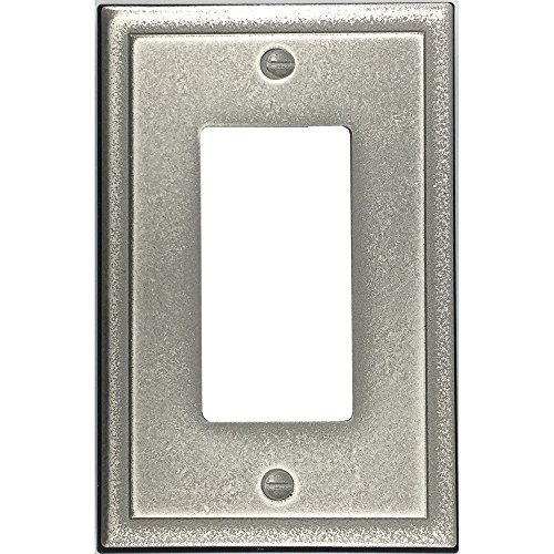 Questech Ambient Satin Metal Composite Switch Plate/Wall Plate/Outlet Cover (Single Decorator, Brushed Nickel) ()