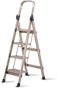QARYYQ Escalera Plegable de Cuatro Pasos de aleación de Aluminio Escalera móvil de ingeniería Escalera portátil Escalera de Cambio de Interior y Exterior Escalera de un Solo Lado Taburete: Amazon.es: Electrónica