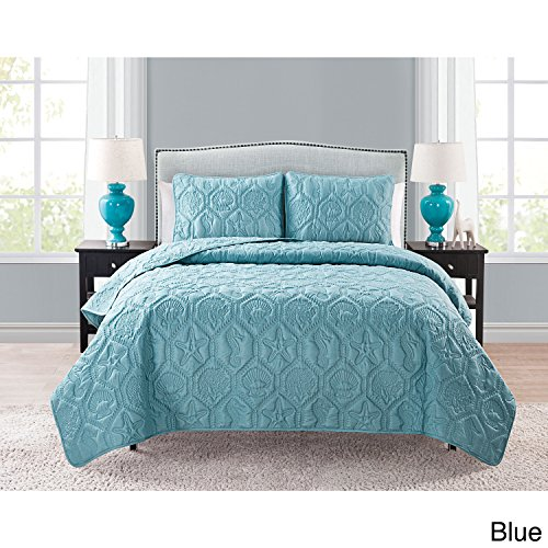 VCNY Shore 3-piece Quilt Set Blue King (King Clearance Quilt)