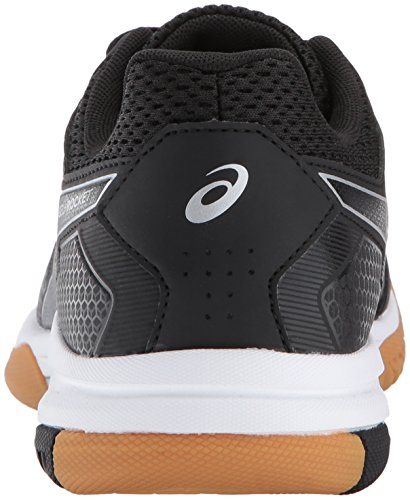 Black Women's Gel Asics Us Shoe Volleyball Medium 8 9 rocket white black 5 a6xqOw