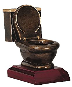 Amazon Com Toilet Bowl Trophy By Decade Awards Sports