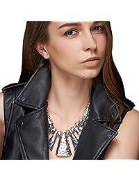 Geometric Punk Metal Chunky Necklace Retro Women Choker Collar Statement Pendant