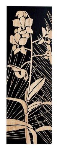 ウッド スカルプチャー アート オーキッド (ブラック)/ 絵画 壁掛け のあゆわら B005X877NC