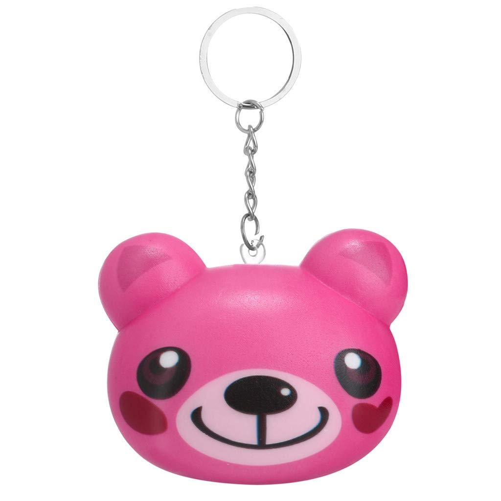 Joykith-Squeezable Toy Kawaii Cartoon Animal Slow Rising Cream Scented Keychain Stress Anxiety Venting Relief Squishies Simulation Gifts