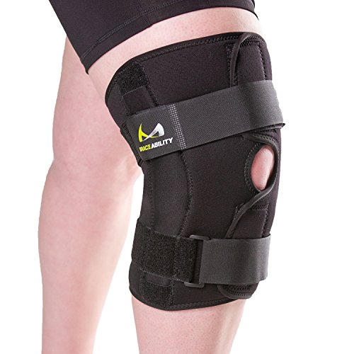 BraceAbility XXXXL Plus Size Knee Brace | Bariatric Hinged Knee Wrap for Big & Wide Thighs to Support Meniscus Tears, Arthritis Joint Pain, Ligament Injuries & Sprains (4XL)