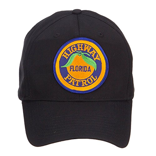 E4hats Florida State Highway Patrol Patched Cap - Black (Highway Patrol Hats)