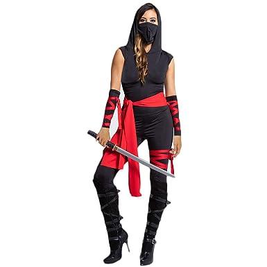 Fiyomet Disfraz de Ninja de Halloween para Mujer Disfraz de Mortal ...