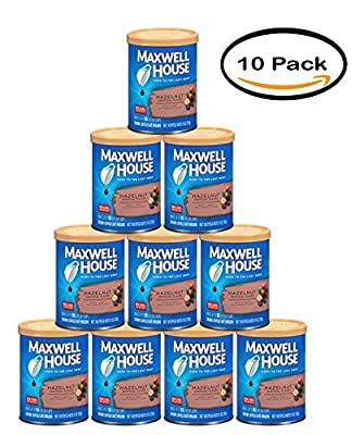 PACK OF 10 - Maxwell House Hazelnut Medium Coffee, 11 oz