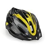 SODIAL(R) Road Bike Racing Bicycle Cycling Helmet Visor Adjustable Carbon Yellow