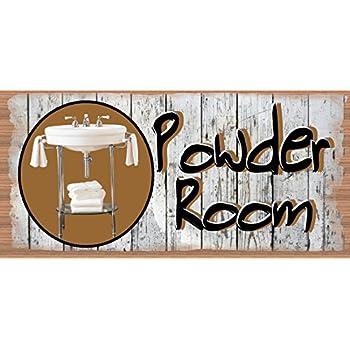 This Item Powder Room Sign   Bathroom Plaque   Bathroom Sign