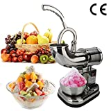 ROVSUN Shaved Ice Machine, Stainless Steel Ice Crusher 440lbs/h...
