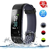 Letsfit Fitness Tracker with Heart Rate Monitor, Color...