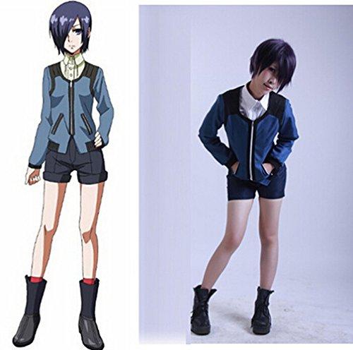 Touka Cosplay Costume (Cos-me Tokyo Ghoul Cosplay Kirishima Toka Hoodies Coat Pants Costume L)