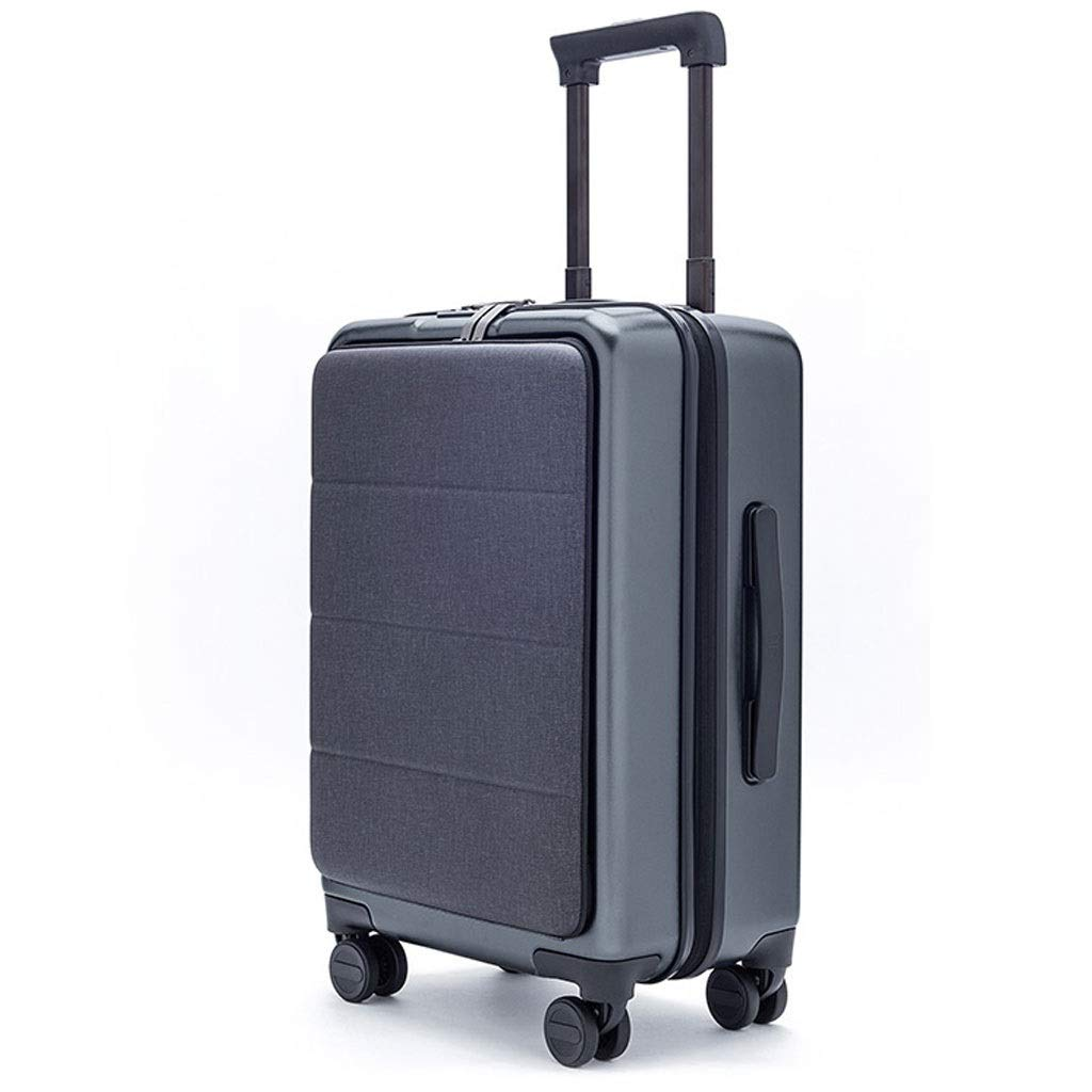 FRF トロリーケース- 男性と女性のためのビジネス搭乗パスコードボックススーツケース、20インチのキャスターレバーはフロントカバーを開くことができます (色 : Gray, サイズ さいず : 20in) 20in Gray B07QP2TVN8