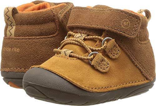 Stride Rite Blake Baby Boy's High-Top Suede Sneaker Ankle Boot, tan, 4 W US Toddler