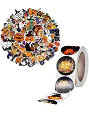 "500 Pcs 1.5"" Halloween Stickers for Kids, Kids Teens Car Window Laptop Phone Luggage Skateboard Graffiti Horror Stickers (50 pcs)Halloween Decorations"