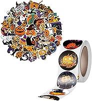 "500 Pcs 1.5"" Halloween Stickers for Kids, Kids Teens Car Window Laptop Phone Luggage Skateboard Graffiti"