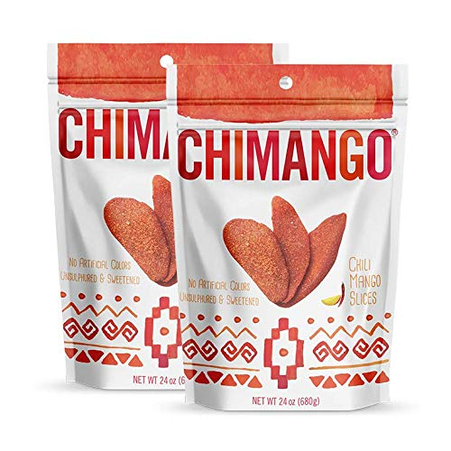 CHIMANGO Chili Mango Slices (2-PACK OF 24 OZ BAGS) by CHIMANGO