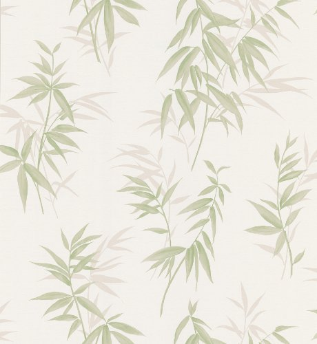 Brewster 426-6261 Bath Bath Bath Vol III Bamboo Wallpaper, 20.5-Inch by 396-Inch, White