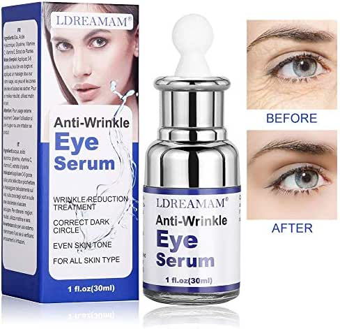 Eye Serum,Under Eye Cream,Wrinkle Eye Serum,Anti Ageing Eye Cream for Dark Circles,Puffiness,Finelines,Under Eye Bags