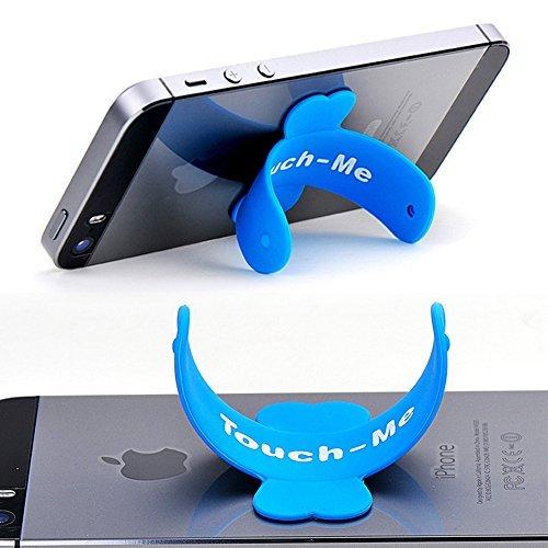 2PCS mini semplice del supporto touch-u silicone Slap e supporto supporto per iPhone 5, iPhone 4, iPod Touch/Nano, iPad Mini, Samsung Galaxy, Google Nexus, Acer Iconia, cellulari, smartphone (rosso)