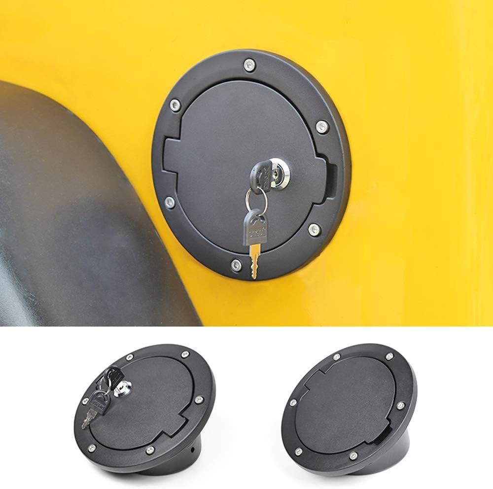 WXQYR 1 pc Bouchon dhuile de Voiture Couvercle de Bouchon de r/éservoir de Carburant avec cl/é pour Jeep Wrangler TJ 1997-2006 couvercles de r/éservoir Accessoires