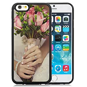 NEW DIY Unique Designed iPhone 6 4.7 Inch TPU Phone Case For Bride Holding Roses Phone Case Cover