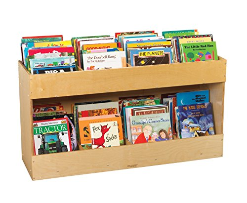 Childcraft Single-Sided Mobile Book Center, 47-3/4 x 14-1/2 x 25-3/4 Inches