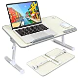 VANKYO Foldable Laptop Table Stand, Portable Laptop Desk - Height and Angle Adjustable Notebook Standing, Bed and Breakfast Tray Table, Folding Lap Holder for Sofa Couch and Floor