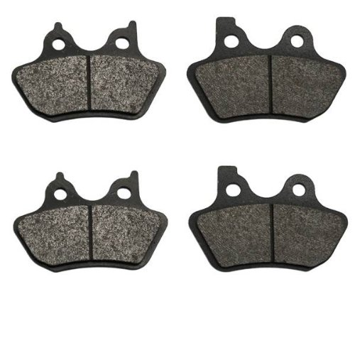 (2000-2005 Harley Softail Standard FXST Front & Rear Brake Pads)