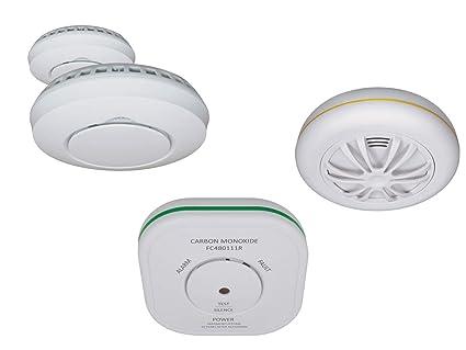 Elro funkvernetzes Alarma Set: 2 x Detectores de Humo + 1 x Detector de Calor